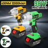 98VF 1/2'' Brushless Cordless Electric Impact Wrench Li-ion Battery Power