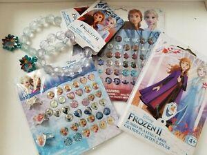 5X Disney FROZEN 2 Anna & Elsa Bracelets, Rings, Sticker Earrings, Playing Cards