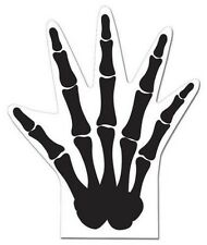 Scary Skeleton Hand Shaped Favor Bags 12 Ct Treat Loot Bag Halloween