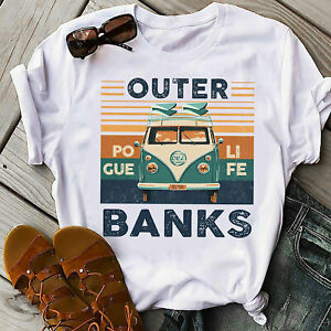 Pogue life outer banks hippie bus Funny T-shirt
