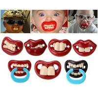 Funny Baby Silicone Pacifier Dummy Teat Teether Infant Orthodontic Soothers