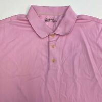 Nike Golf FitDry Polo Shirt Men's 2XL XXL Short Sleeve Pink Solid 100% Polyester