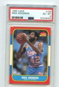 1986 Fleer #129 Mike Woodson PSA 6 Sacramento Kings