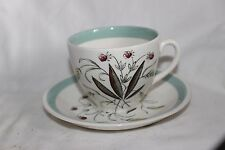 Vintage 1950 S ALFRED MEAKIN Tasse & Soucoupe baies Graminées Hedgerow