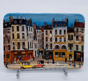 Michel Delacroix Melamine Tip Tray Paris France City Scene Mebel Italy