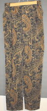 Jones New York Pants Womens Corduroy Paisley Brown  Size 6