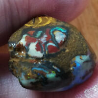 +VIDEO STUNNING UNPOLISHED 29.15CT Aust QLD Boulder Opal ROUGH
