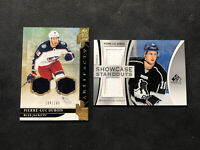 2019-20 UD ARTIFACTS/SP GAME USED PIERRE-LUC DUBOIS LOT OF 2 DUAL JERSEY