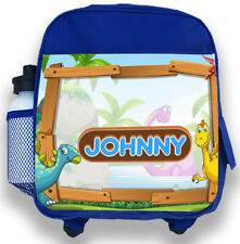 71e8a238d3 Personalised Kids Backpack Any Name Dinosaur Boys Childrens Back To School  Bag 2
