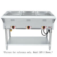 APW Wyott SST-3S Electric Stationary Sealed Champion Hot Well Steam Table