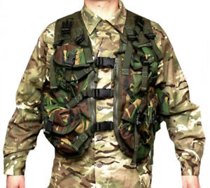 British Army DPM Load Carry Waistcoat Carriage Ops Tactical Vest Woodland