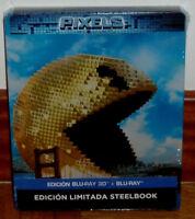 PIXELS STEELBOOK EDICION LIMITADA BLU-RAY 3D+BLU-RAY PRECINTADO NUEVO ACCION R2