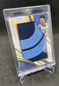 2019-20 Immaculate Brandon Clarke Patch RC Jersey Number Rookie /45 Grizzlies 📈