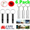 6 Pack Survival Whistle Aluminum Camping Emergency Gear SOS Safety Outdoor Tools