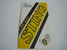 1984 NASL DEFUNCT CHICAGO STING POCKET SCHEDULE**NORTH AMERICAN SOCCER LEAGUE**