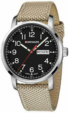 WENGER Attitude Heritage Swiss Mens Analog Watch Beige Nylon Strap 01.1541.111
