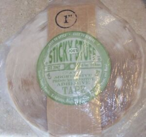 """Joe's Sticky Stuff 1"""" Double-Sided Adhesive Tape - Clear - 65'"""