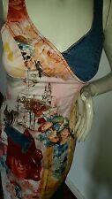 Robe T36 38 Paul Bréal vintage jean short jupe santiags bottes compensées