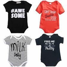 Baby Toddler Funny Word Bodysuits Novelty Gift