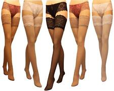 New Deep Lace Top Sheer Hold ups stockings 15 Denier 13cm Lace Top