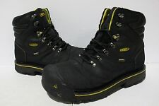 NBJ-91 Keen Utility Milwaukee WP Men's Work Lace-up Boots Black SZ 12D