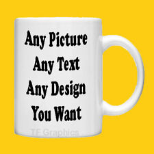 Design Your Own Personalised Custom Standard Tea Mug - Any Design you Want!