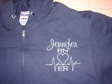 Sweatshirt HOODIE Gift NURSES ZIP Nurse RN LVN MD LPN MD PA HOSPITAL MEDICAL