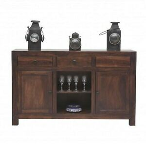 Contemporary Solid wood Sideboard Brown (MADE TO ORDER)
