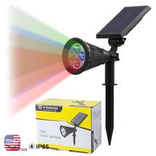 RGB Outdoor Garden LED Solar Landscape Spot light Wall Lamp Path Color Change US