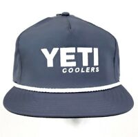 New YETI Coolers Gray Snapback Trucker Rope Hat/Cap NWT