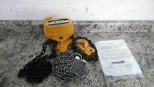 Harrington Cb020 8 8 Ft Hoist Lift 4000 Lb Load Cap Manual Chain Hoist