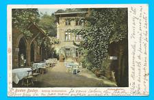 Baden-Baden - Schloss Restauration - Hohen-Baden gel. 1901
