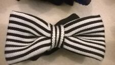 Bow Tie, Bowtie black white stripe trendy vintage wool style. NEW