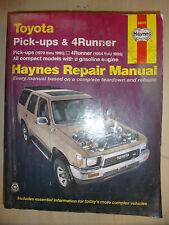 TOYOTA PICK-UPS & 4RUNNER HAYNES MANUAL 4-Cyl & V6 V-6 PETROL MODELS 1979->1995