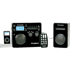 Tivoli iSongBook Portable System for iPod, AM/FM Tuner - Black/Silver -ISBBS