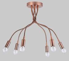 ariel 759 p6 lampadario classico rustico plafoniera flessibile rame diamantlux