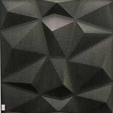 5qm/20Stück 3D Wandpaneele Deckenpaneele Platten Paneele Diamant Schwarz EPS