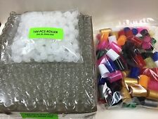 144 PLAIN Bottles 1/6 oz 5ML Clear Glass Roll on + MIX COLOR Cap & Roller