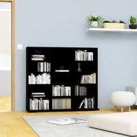 USA CD Cabinet Black Chipboard CD Stand Storage Display Shelf Bookcase