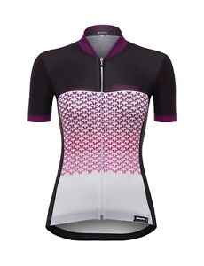 Women's Volo Short Sleeve Cycling Jersey in Violet by Santini