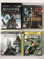 PS3 Game Bundle - Uncharted + L.A.Noire+ Assassins Creed Revelations +AC 3 (768)