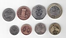 ISLE OF MAN - 8 DIF COINS SET: 0,01 - 2 POUNDS 2004 - 2017 YEAR ANIMALS