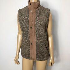 Kyra. K Women'z Zig Zag Fuzzy Equestrian Sportsman Full Zip Button Vest Size XS