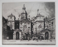 """Rare Stanley Anderson RA CBE Original Etching """"Horse Guards"""" signed 1911 (Ed 50)"""