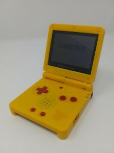 Nintendo GameBoy Advance Sp Pokemon Pikachu Edition AGS-101 w/Charger Authentic