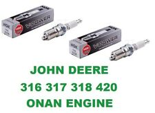 John Deere 316 317 318 420 Spark Plugs with the Onan Engines NGK TR5 REP RS17YX