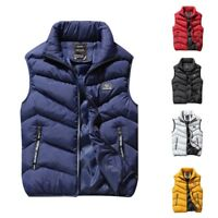 Men Warm Vest Fashion Casual Sleeveless Jacket Cotton Padded Waistcoat Outwear