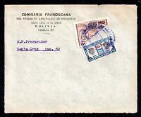 Bolivia 1957 1000b Bisect on cover (front only) to Make up Postage Rate WS20958