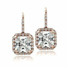 Unbranded Cubic Zirconia Leverback Fine Earrings