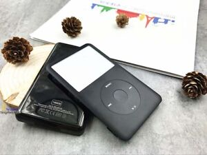 full black housing faceplate case cover click wheel for ipod 7th classic 160gb
